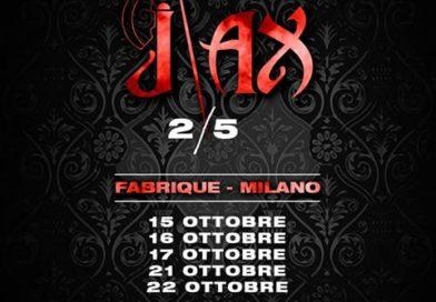 """Rapper Italia – Dopo il grande successo de """"La Finale"""", J-Ax torna ad esibirsi da solista per 5 date al Fabrique di Milano 15-16-17-21-22 ottobre 2018 e 2 date al Fabrica di Roma 25 agosto-25 ottobre 2018."""