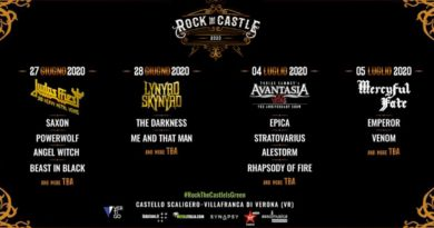 Biglietti Rock The Castle Verona 27-28 giugno 4-5 luglio 2020